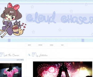 blogskins, cute template, blue skin, blog, kawaii template, blue template