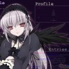 Evilness~Purple aura~Gothic girl