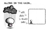 alone in the rain; -orangebluepinkdesigns*-