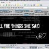 .o4# {ALL THE THINGS SHE SAID} messitforallicare